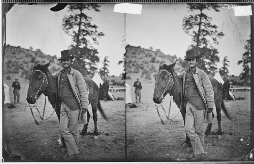 FRED_W._LORING_AND_HIS_MULE_-EVIL_MERODACH-_PRESCOTT,_ARIZONA_-_NARA_-_523916